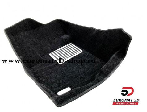 Текстильные 5D коврики с высоким бортом Euromat3D в салон для Citroen C-Crosser № EM5D-003609