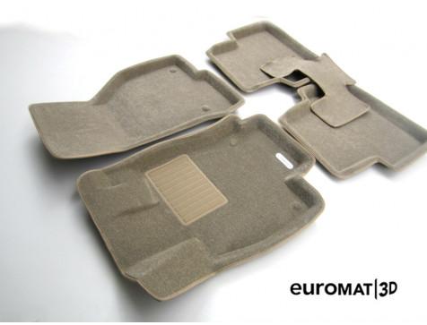 Текстильные 3D коврики Euromat3D Business в салон для Audi A3 (2014-) № EMC3D-004507T Бежевые