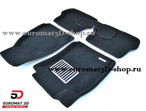 Текстильные 3D коврики Euromat3D Lux в салон для Audi A4 (2004-2007) № EM3D-001110